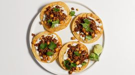 Chickpea and Chorizo Tostada