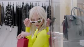 Supermodel Soo Joo Park Speed-Shops Saks in New York