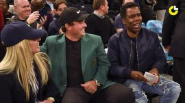 Masters champ Patrick Reed celebrates with Chris Rock, Aziz Ansari & J.R. Smith