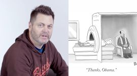 How to Write a New Yorker Cartoon Caption: Nick Offerman Edition