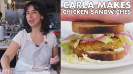 Carla Makes Crispy Fried Chicken Cutlet Sandwiches