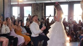 Model Gets Engaged While on the Runway