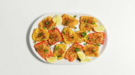 Roasted Red Peppers with Parm Breadcrumbs