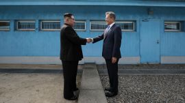 A Historic Handshake Between North and South Korea