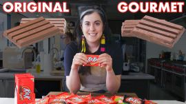 Pastry Chef Attempts To Make Gourmet Kit Kats