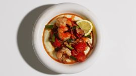 Shrimp with No-Stir Grits