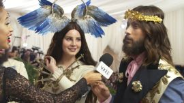 Lana Del Rey and Jared Leto on Their Gucci Ensembles