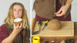 50 People Try to Crack a Coconut