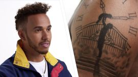 Formula One Superstar Lewis Hamilton Has Tattoos for Days