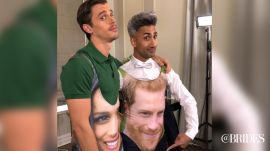 "Antoni and Tan From ""Queer Eye"" Try on Royal Wedding Swimsuits"