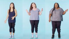 Women Sizes 0 Through 28 Try on the Same Leggings