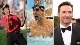 Tiger Woods, Michael Phelps, and Hugh Jackman. The No. 1s of 2008