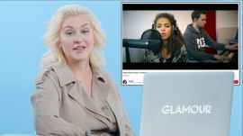 Christina Aguilera Watches Fan Covers On YouTube