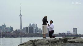 Marika and Graeme's Sweet Scavenger Hunt Proposal | Toronto