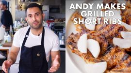 Andy Makes Grilled Short Ribs with Pickled Daikon