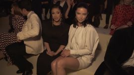 Adriana Lima Shows Us How to Do Front Row Style Like a Supermodel at the Tom Ford Show