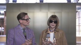 Vogue's Anna Wintour and Hamish Bowles Chat About the Best Moments of London Fashion Week