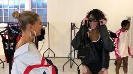 Winnie Harlow Hangs With Hailey Baldwin and Dons Diamonds During London Fashion Week