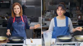 Ellie Kemper Tries to Keep Up with a Professional Chef