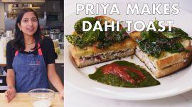 Priya Makes Dahi Toast