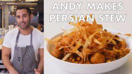 Andy Makes Khoresh Gheymeh (Persian Stew)