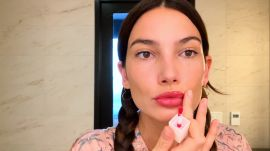 Watch Lily Aldridge Do Her Full Pregnancy Glow Routine—Including Baby Bump Sheet Masking
