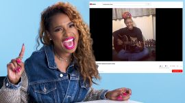 Jennifer Hudson Watches Fan Covers on YouTube