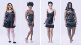 Women Sizes Small to 3X Try on the Same Slip Dress (Fenty)