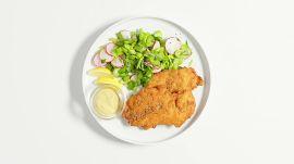 Chicken Schnitzel with Raw Salad