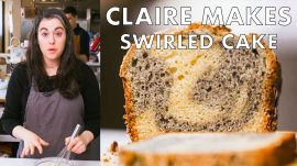 Claire Bakes Swirled Sesame Cake