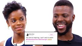 Black Panther Cast Competes in a Compliment Battle