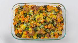 Cheesy Butternut Squash and Kale Breakfast Bake