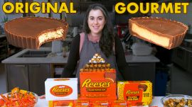 Pastry Chef Attempts to Make Gourmet Reese's Peanut Butter Cups