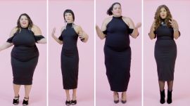 Women Sizes 0 to 28 Try on the Same Little Black Dress