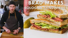 Brad Makes Fried Bologna Sandwiches