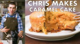 Chris Makes Molten Caramel Cake