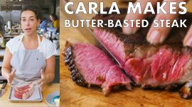 Carla Makes Butter-Basted Steak with Fennel Salad