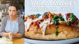 Carla Makes Meatball Subs
