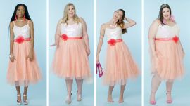 Women Sizes 0 Through 28 Try on the Same Barbie Dress