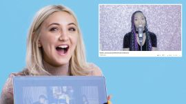 Julia Michaels Watches Fan Covers on YouTube