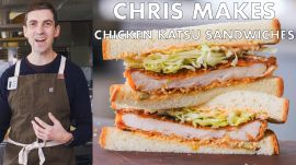 Chris Makes Spicy Chicken Katsu Sandwiches