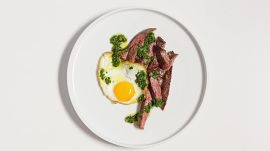 Steak and Eggs with Salsa Verde