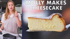 Molly Makes Burnished Basque Cheesecake