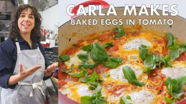 Carla Makes Baked Eggs in Tomato