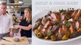 Molly and Adam Make Pork Marbella