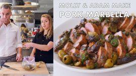 Molly and Adam Make Pork Marbella