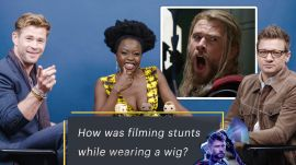 "Chris Hemsworth, Jeremy Renner, & Danai Gurira Answer ""Avengers"" Fan Questions"