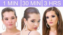 Getting Selena Gomez's Look in 1 Minute, 30 Minutes, and 3 Hours - Makeup Challenge