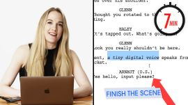 Hollywood Screenwriter Attempts To Write A Scene in 7 Minutes