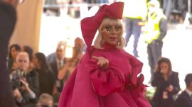 Lady Gaga's Red Carpet Entrance